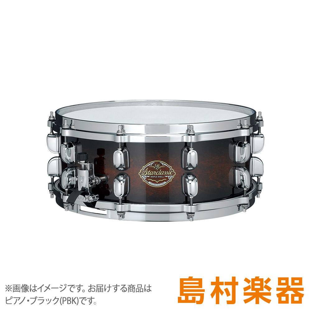 TAMA SMS455FT ピアノ・ブラック スネアドラム STARCLASSIC MAPLE SFR付 14インチ×5.5インチ 【タマ】