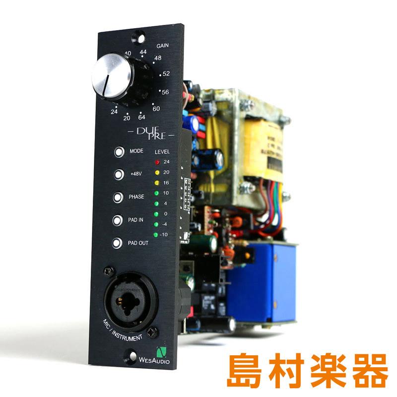 WesAudio DUE-PRE マイクプリアンプ API500 series 2 mode mic-preamp 【ウェスオーディオ】