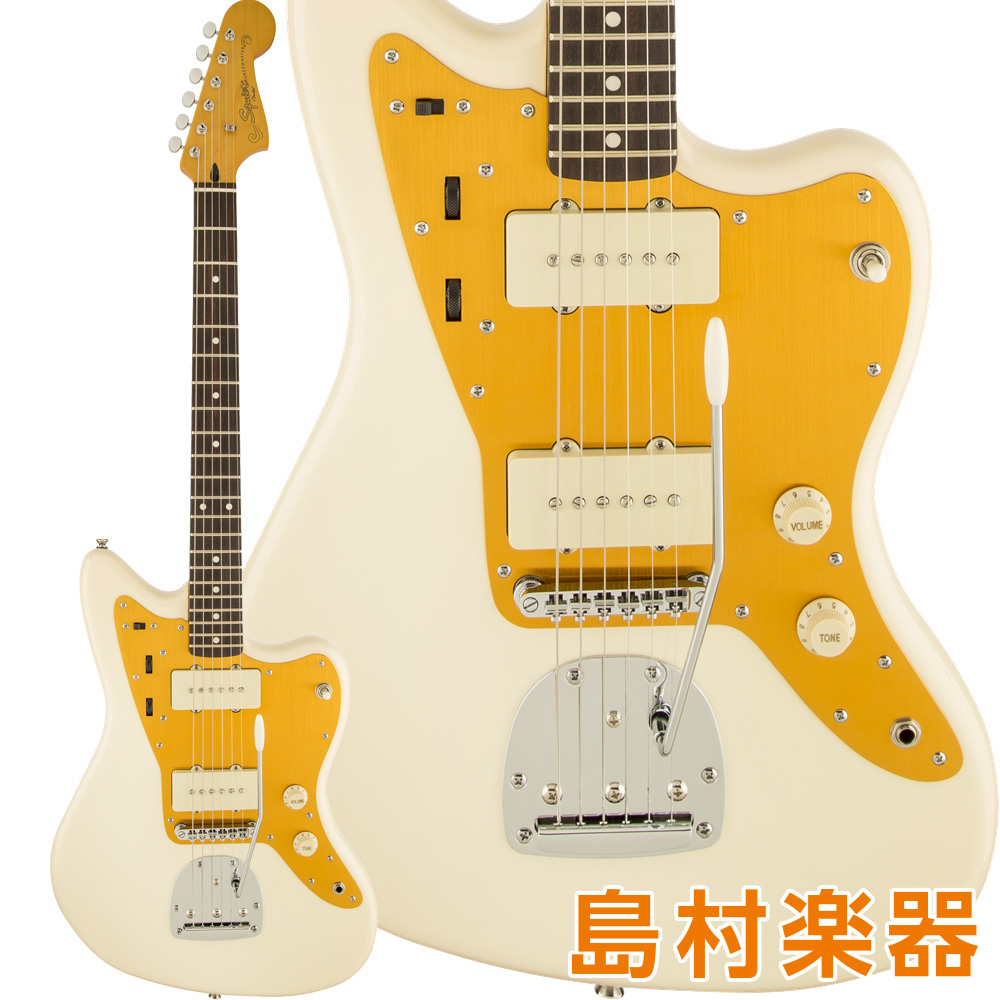 Squier by Fender J Mascis Jazzmaster Laurel Fingerboard Vintage White エレキギター J マスシス シグネチャーモデル 【スクワイヤー / スクワイア】