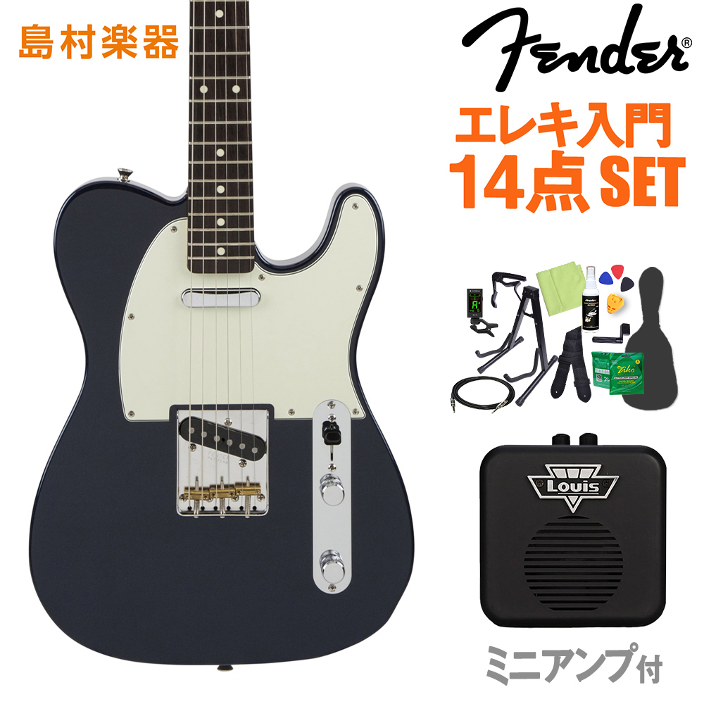 【クレジット無金利 10/31まで♪】Fender Made in Japan Hybrid 60s Telecaster Midnight Blue エレキギター 初心者14点セット 【ミニアンプ付き】 【フェンダー】【オンラインストア限定】