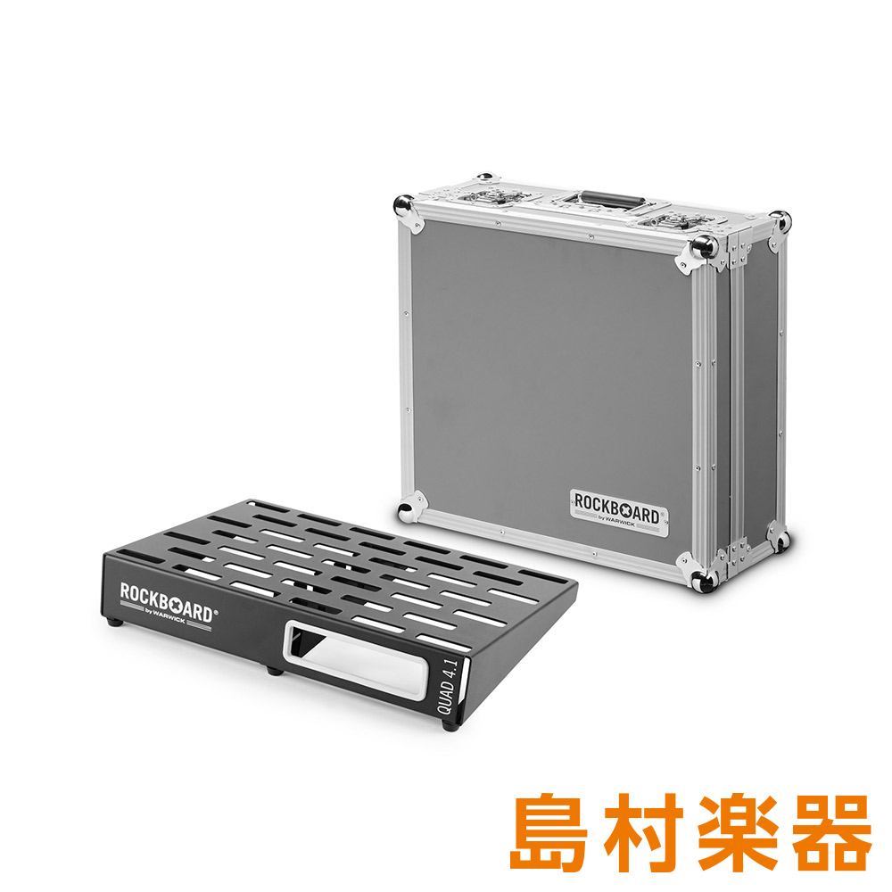 Warwick QUAD 4.1 with Flightcase エフェクターボード RockBoard PedalBoard with Flightcase 【ワーウィック】