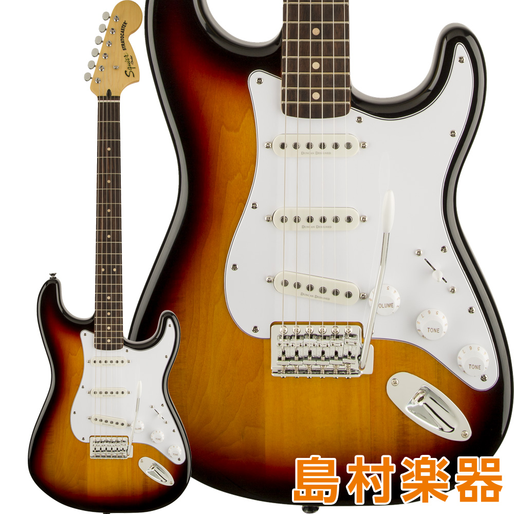 Squier by Fender Vintage Modified Stratocaster Laurel Fingerboard 3-Color Sunburst エレキギター 【スクワイヤー / スクワイア】