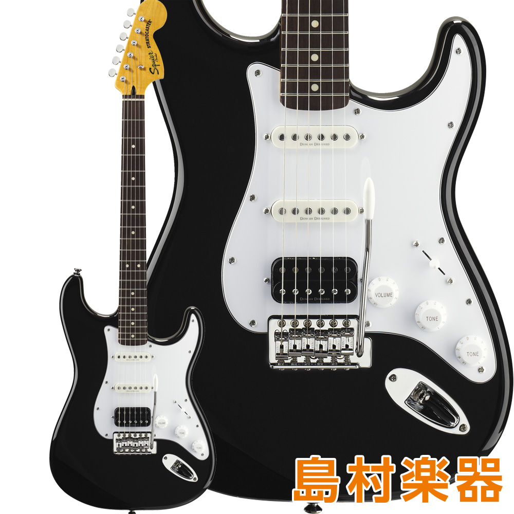 Squier by Fender Vintage Modified Stratocaster HSS Laurel Fingerboard Black エレキギター 【スクワイヤー / スクワイア】
