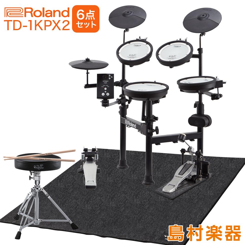 Roland 電子ドラム TD-1KPX2 V-Drums Portable ローランド純正防音6点セット【折りたたみ式】 【オンラインストア限定 TD1KPX2】
