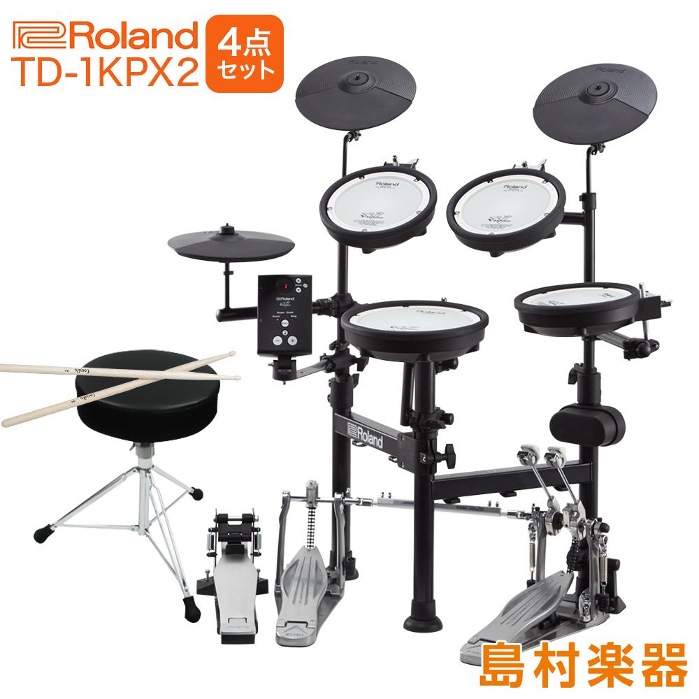 【5000円キャッシュバックキャンペーン中♪ 12/31まで】Roland 電子ドラム TD-1KPX2 V-Drums Portable TAMAツインペダル付属4点セット【折りたたみ式】 【オンラインストア限定 TD1KPX2】