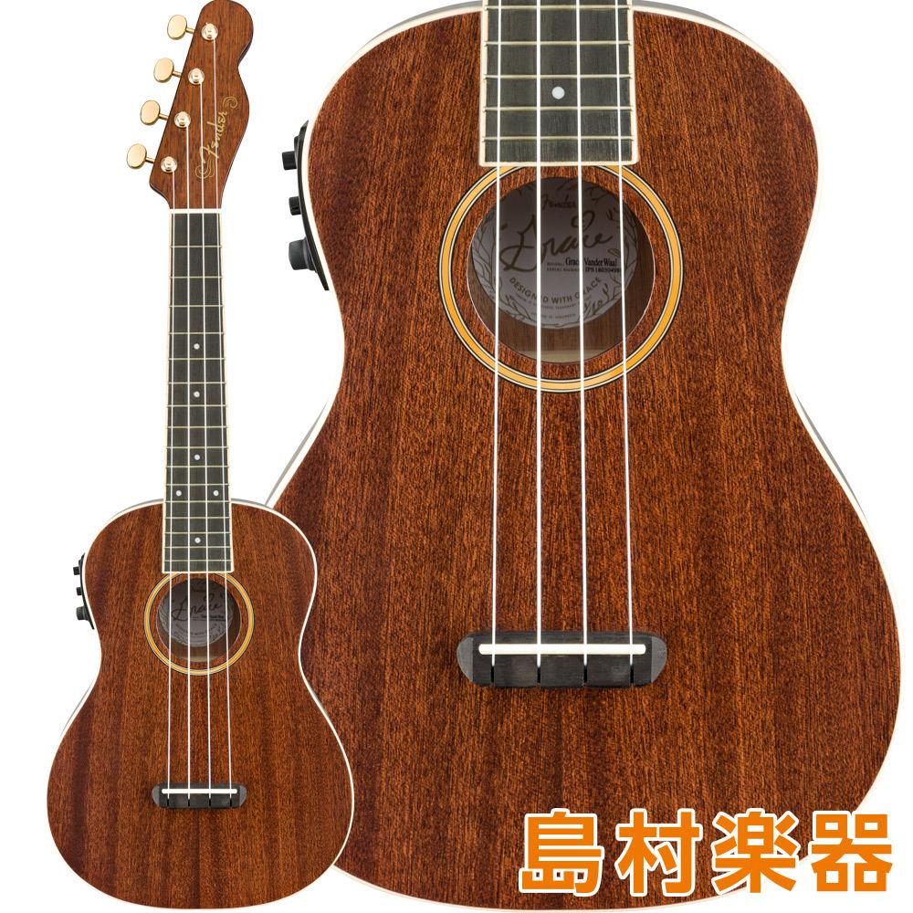 【絶品】 Fender Grace Natural プリアンプ搭載 VanderWaal VanderWaal Signature Uke Walnut Fingerboard Natural コンサートウクレレ プリアンプ搭載 グレース・ヴァンダーウォールモデル【フェンダー】, 宇宙全巻ゴリブックス:a518229c --- tringlobal.org