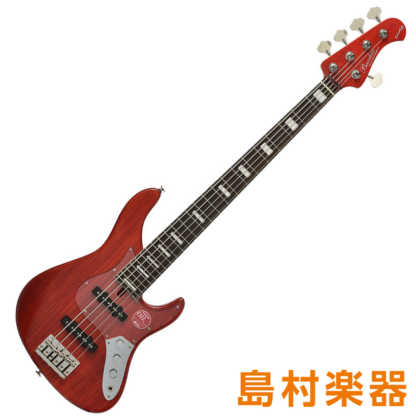 Bacchus WL524DX-ASH RED/OIL レッドオイル 5弦エレキベース クラフトシリーズ 【バッカス】