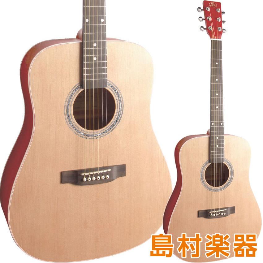 SX SD204 TRD アコースティックギター ドレッドノートタイプ 【 シースルーレッド】