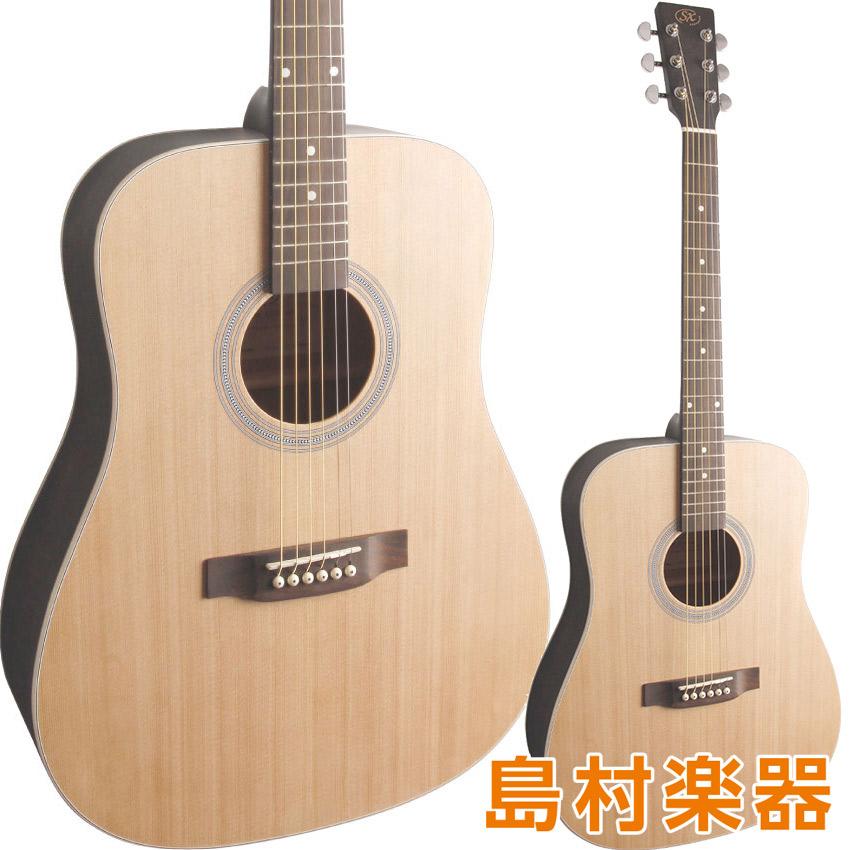 SX SD204 TBK アコースティックギター ドレッドノートタイプ 【エスエックス シースルーブラック】