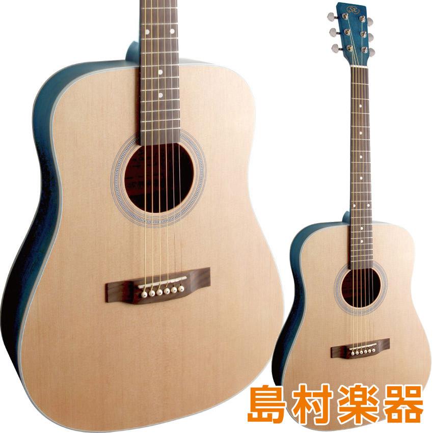 SX SD204 TBU アコースティックギター ドレッドノートタイプ 【エスエックス シースルーブルー】