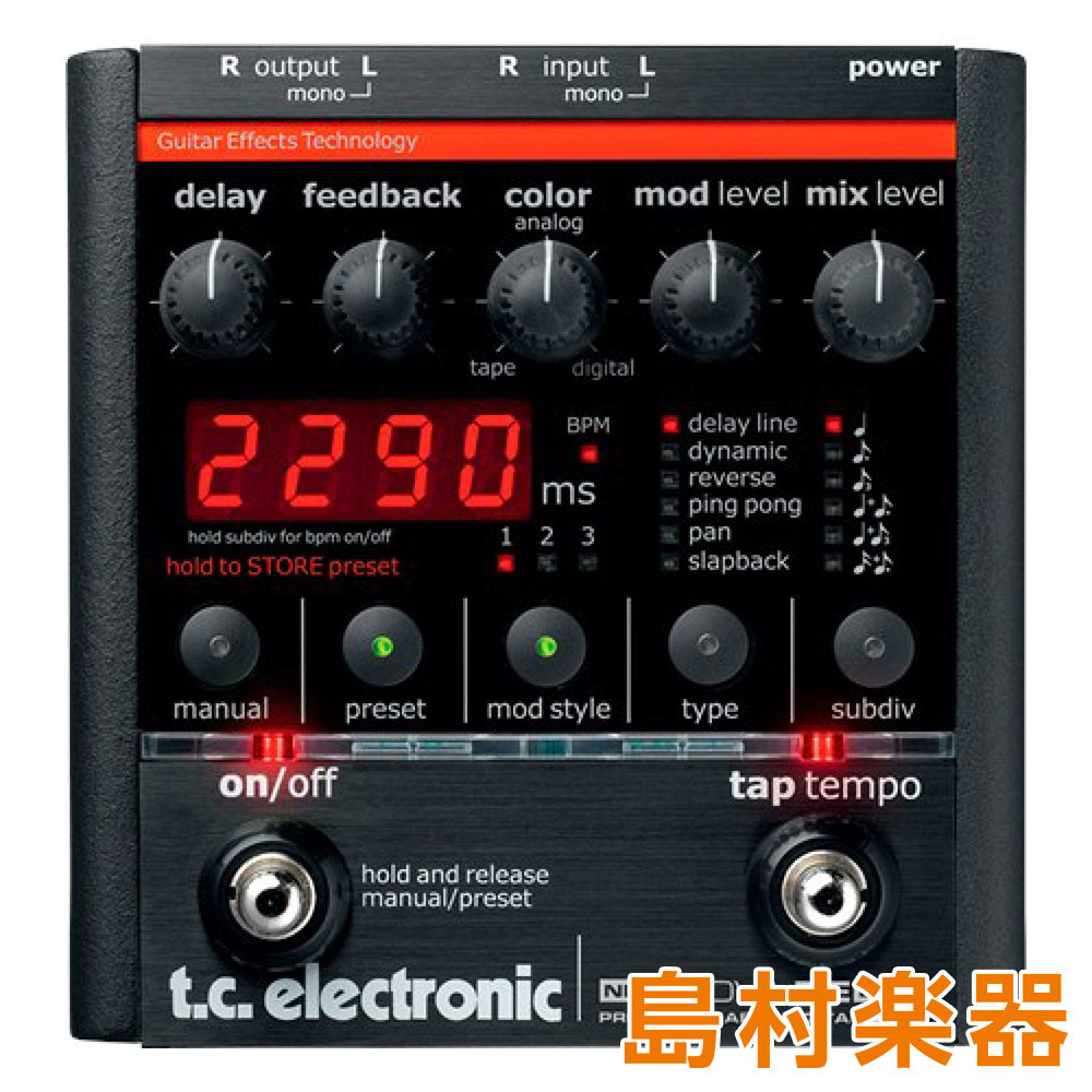 TC Electronic ND-1 Nova Delay コンパクトエフェクター プログラマブル・デジタル・ディレイ 【TC エレクトロニック】