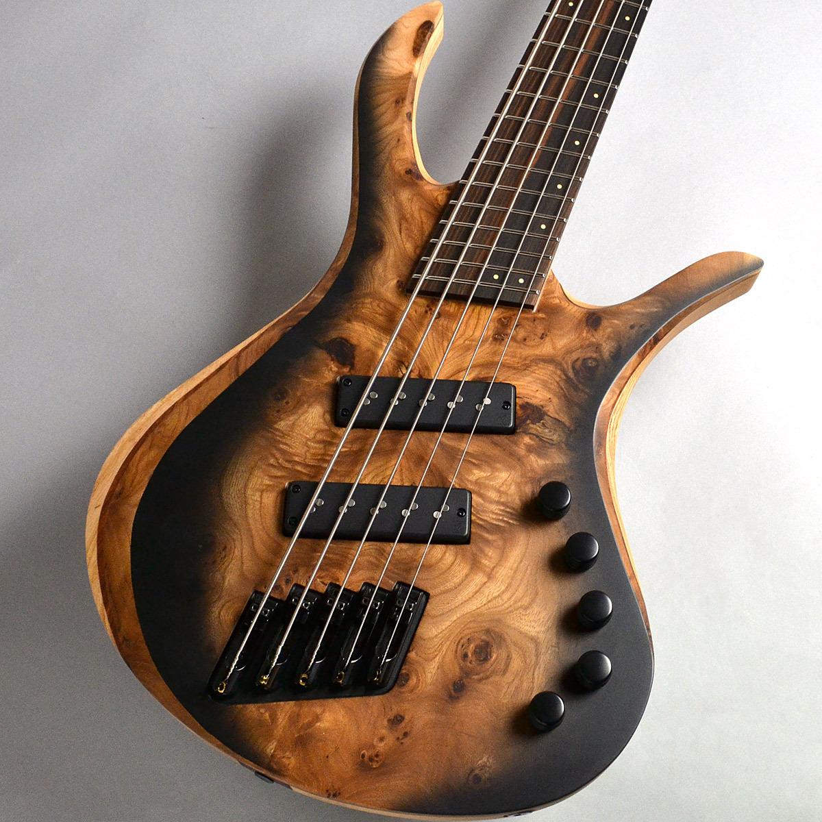SKERVESEN GUITARS Bronto 37-5 Burl Elm/Black Burst Matt エレキベース(5弦) 【スケルヴェセン ギターズ】【新宿PePe店】