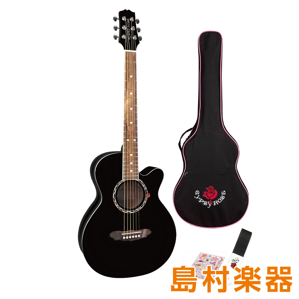 GYPSY ROSE GRA1K BK ブラック アコースティックギターセット 【ジプシーローズ】