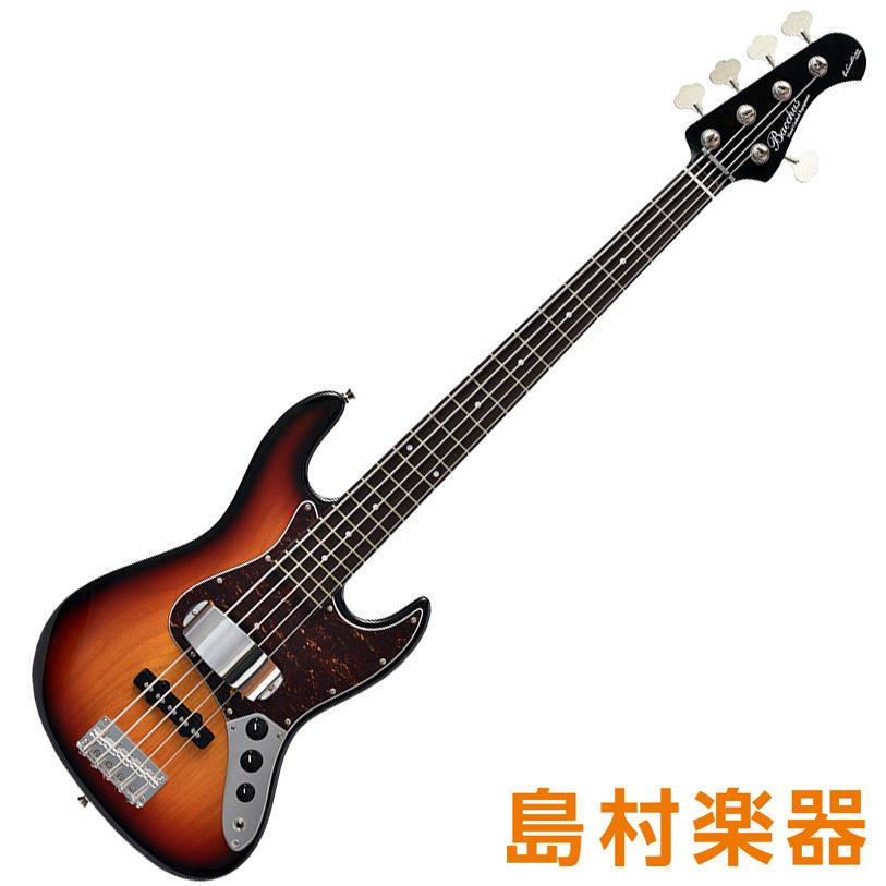 Bacchus WL-534 3TS-BH スリートーンサンバースト 5弦エレキベース グローバルシリーズ 【バッカス】