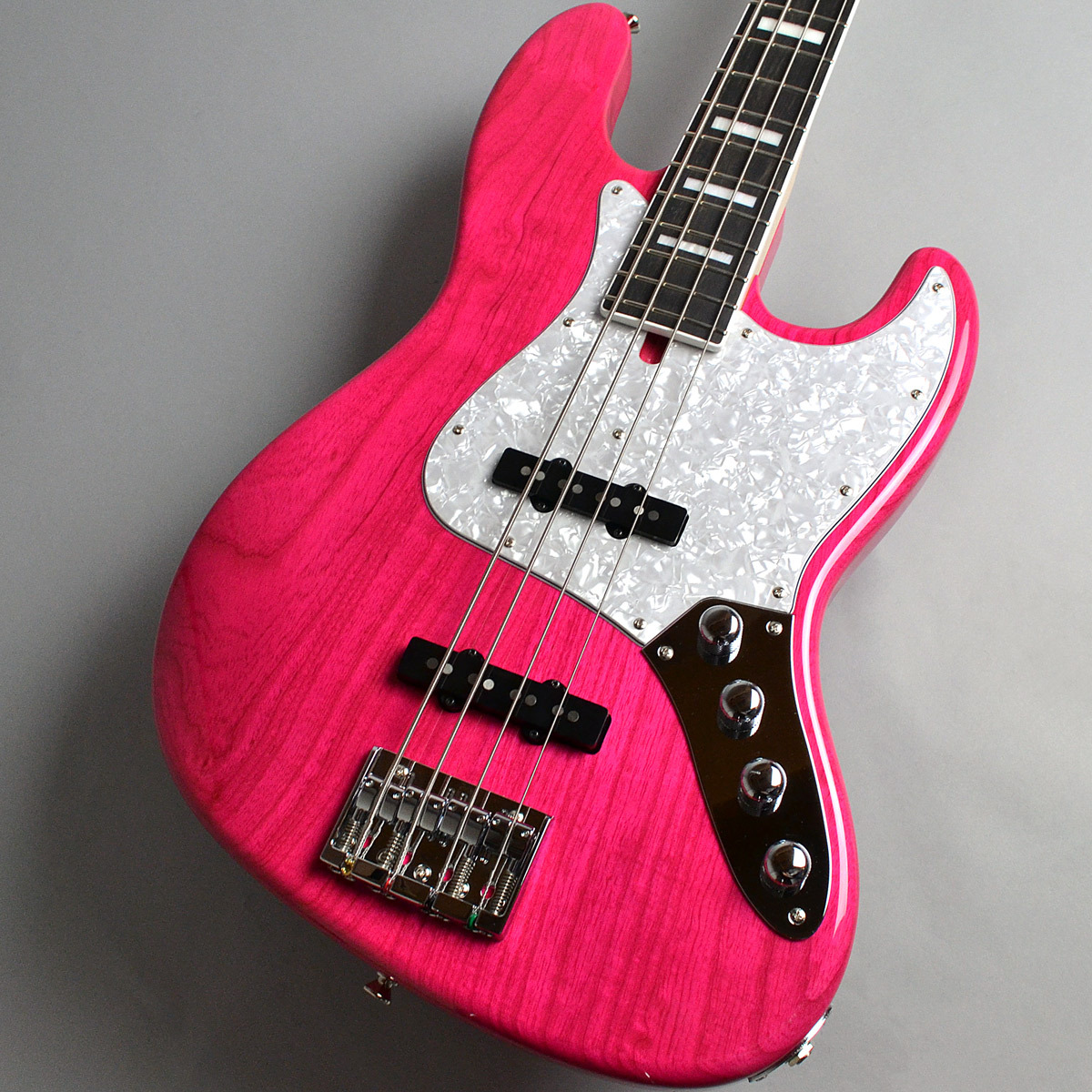 moon JB-4A/E CR Transparent Pink/MH エレキベース 【ムーン】【新宿PePe店】