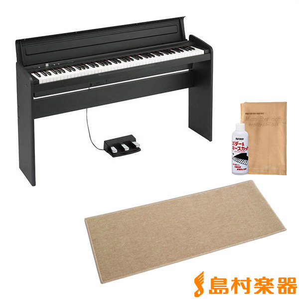 KORG LP-180 ブラック 電子ピアノ 88鍵盤 カーペット(小)セット 【コルグ LP180】