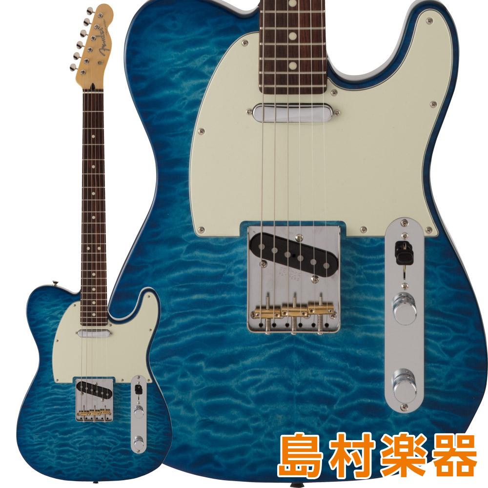 Fender FSR MIJ Hybrid 60s Telecaster Quilt Top Rosewood Fingerboard Transparent Blue エレキギター 【フェンダー】【数量限定品】