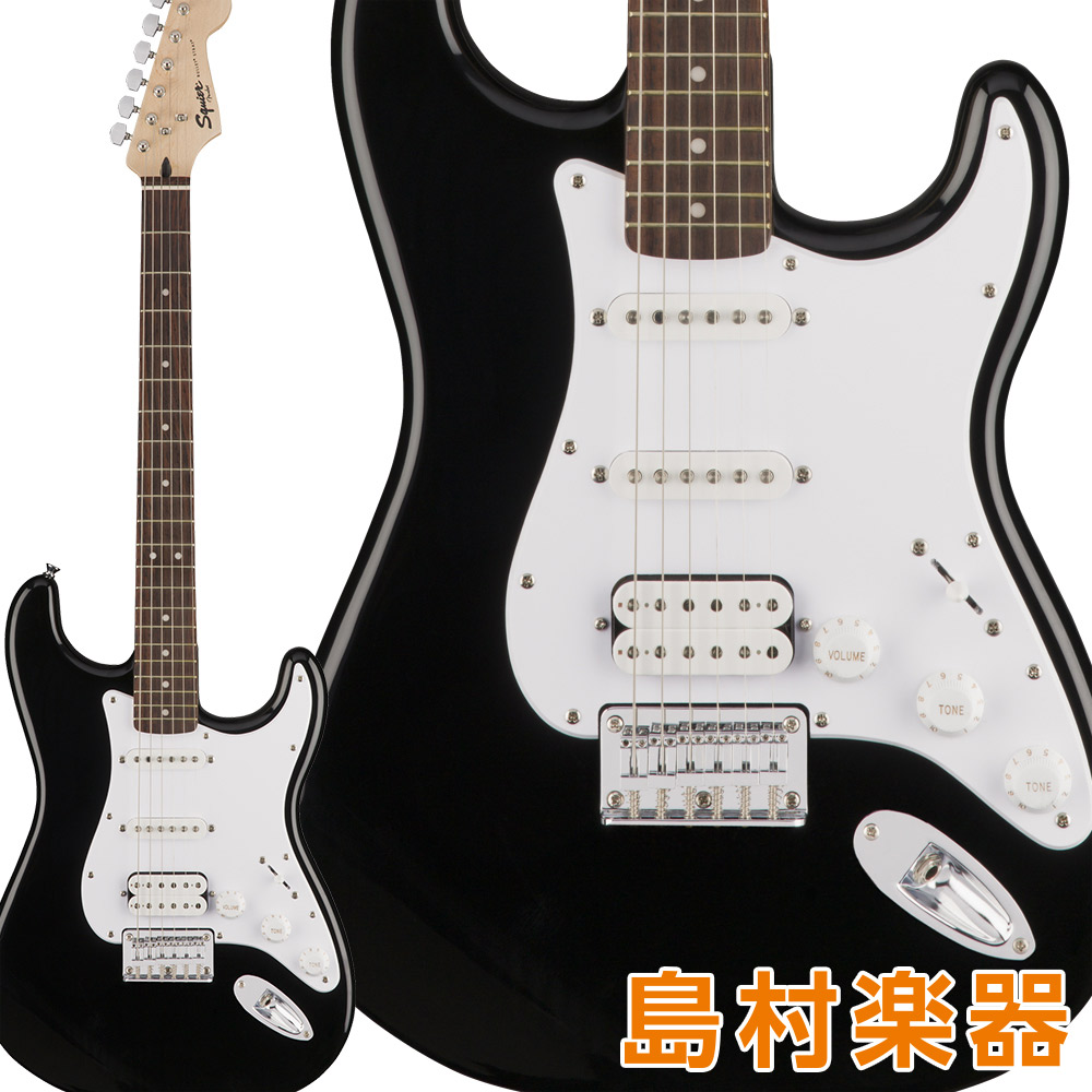 Squier by Fender Bullet Stratocaster HSS Hard Tail Laurel Fingerboard Black エレキギター ストラトキャスター 【スクワイヤー / スクワイア】