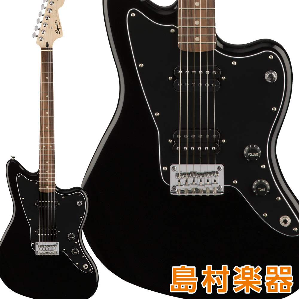 Squier by Fender Affinity Series Jazzmaster HH Laurel Fingerboard Black エレキギター ジャズマスター 【スクワイヤー / スクワイア】