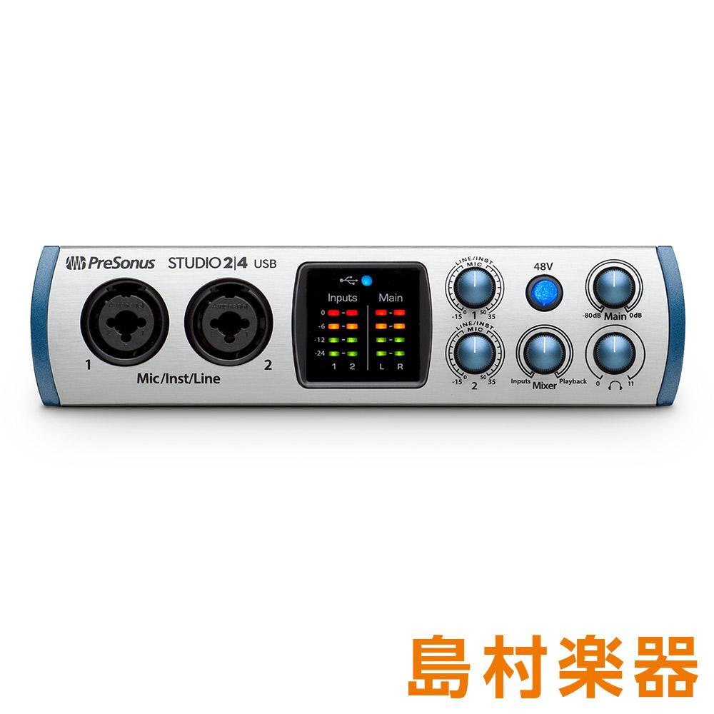 PreSonus Studio 2|4 USB オーディオインターフェース 【プレソナス】