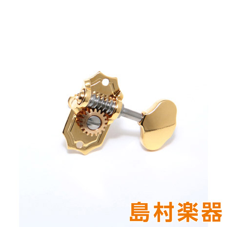KLUSON 3 per Side Ornate Button Gold ペグ プレステージ・シリーズ 【クルーソン】