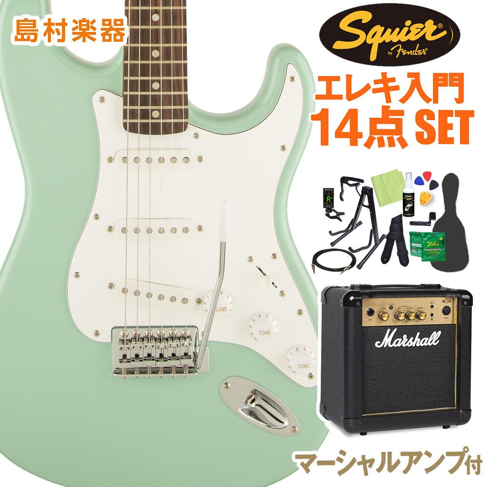 Squier Series by Fender Affinity Series Fender Stratocaster Affinity Laurel Fingerboard Surf Green エレキギター 初心者14点セット【マーシャルアンプ付き】 ストラトキャスター【スクワイヤー/ スクワイア】【オンラインストア限定】, みづの屋:91ecc55b --- sunward.msk.ru