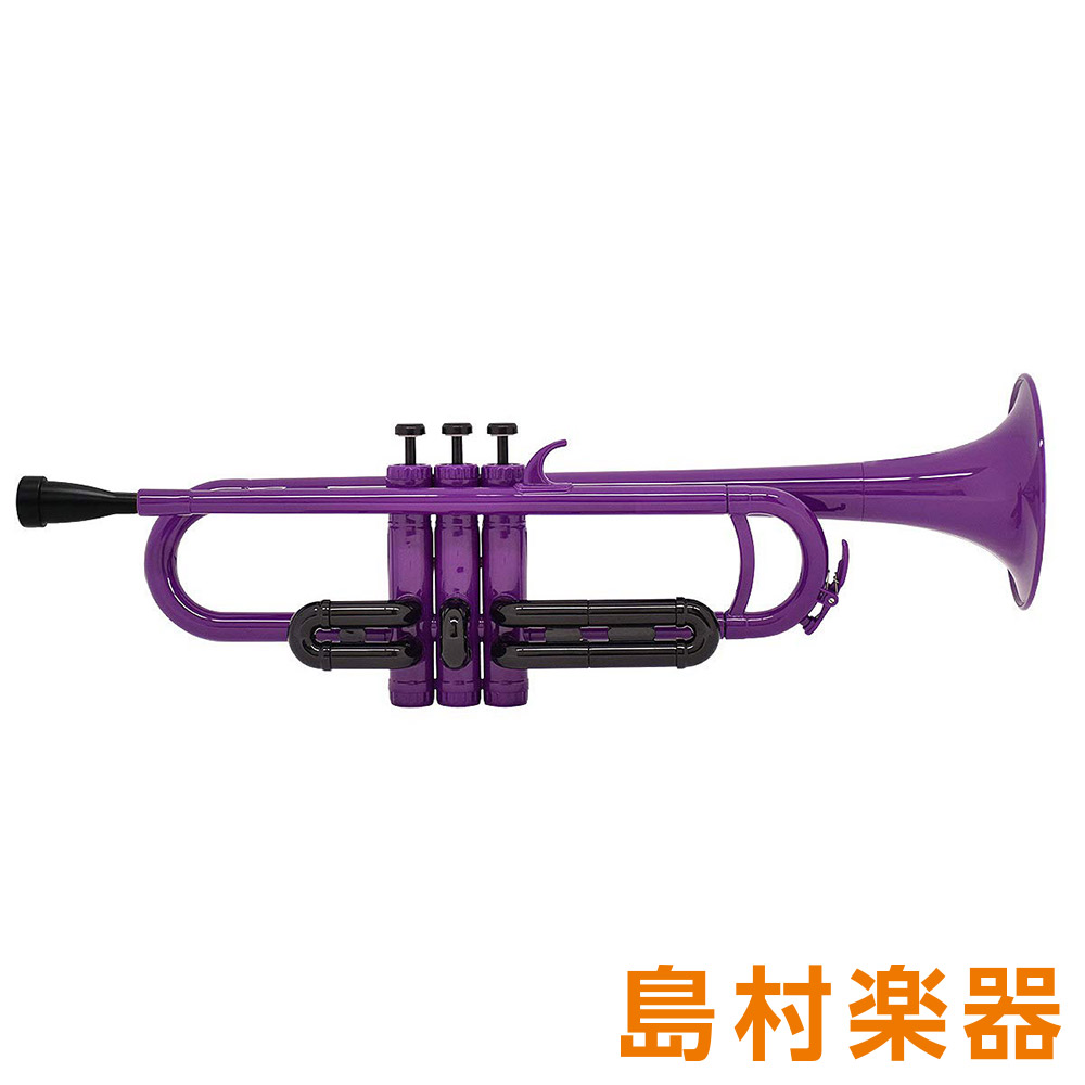 ZO TP-04BK プラスチックトランペット パープル / ブラックトリム 【 プラ管】