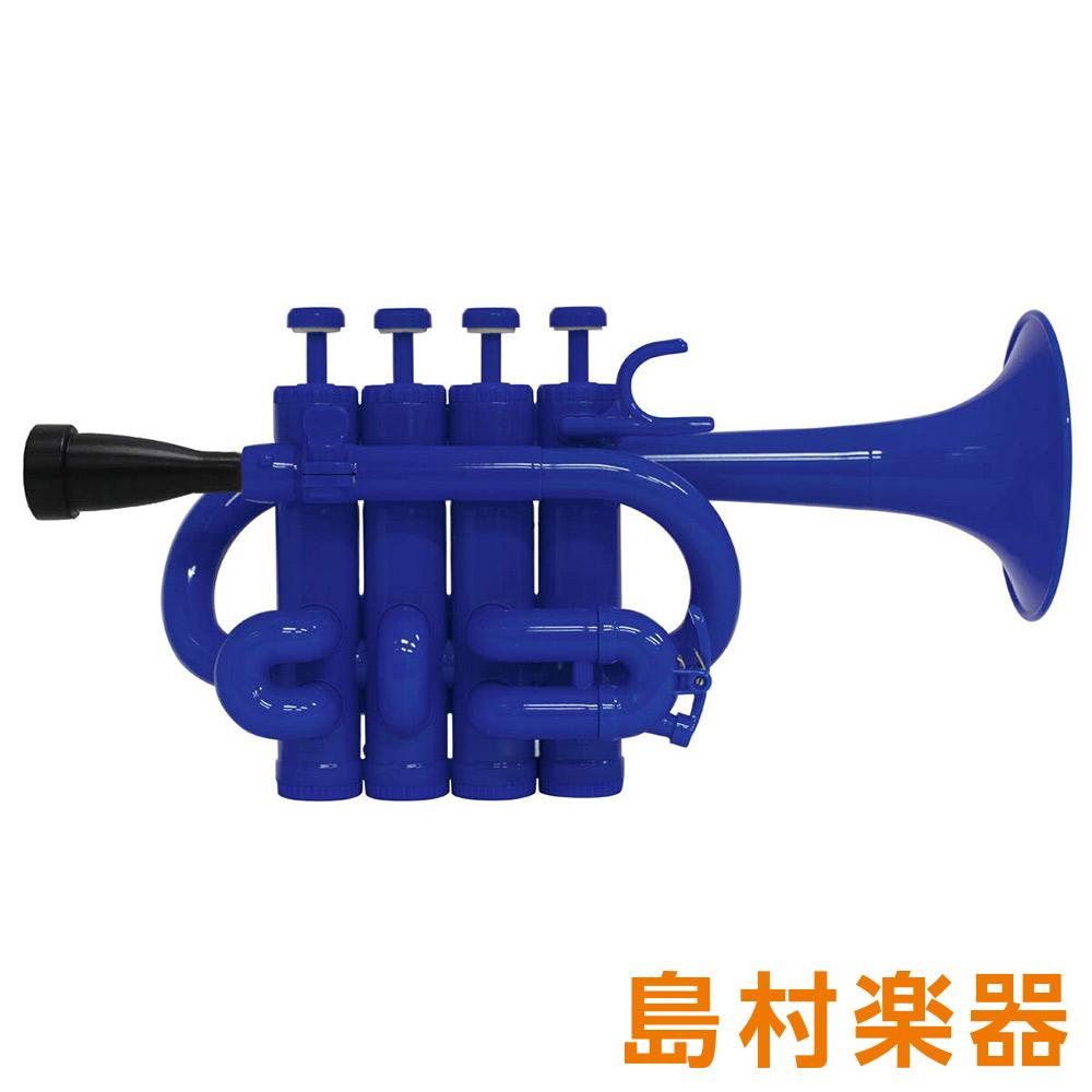 ZO PC-10 プラスチックピッコロトランペット ダークブルー / ブラックトリム 【 プラ管】