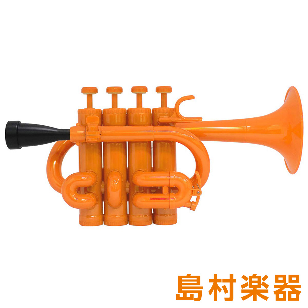 ZO PC-11 プラスチックピッコロトランペット オレンジ / ブラックトリム 【 プラ管】