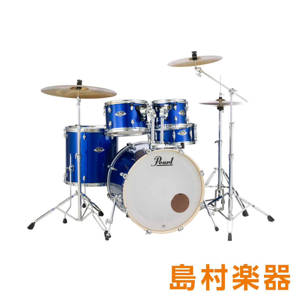 Pearl EXPORT High EXX725S/C #717 High Voltage Blue EXPORT Blue シンバル付きドラムセット スタンダードサイズ【パール EXPORTシリーズ】【フルセット】, 【通販激安】:693f205a --- ww.thecollagist.com