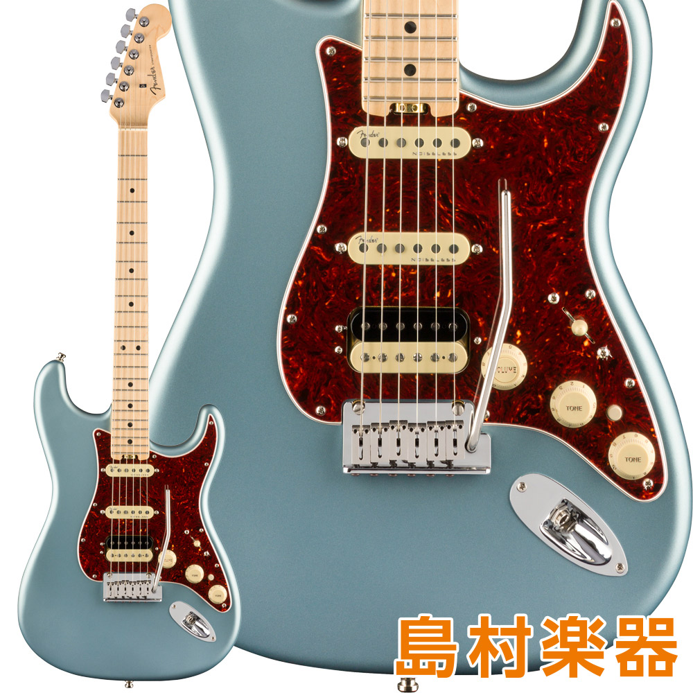 Fender American Elite Stratocaster HSS ShawBucker Maple Fingerboard Satin Ice Blue Metallic エレキギター 【フェンダー】