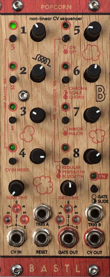 Bastl Instruments POPCORN シーケンサー、クオンタイザーモジュール 【バストルインストゥルメンツ モジュラーシンセ】