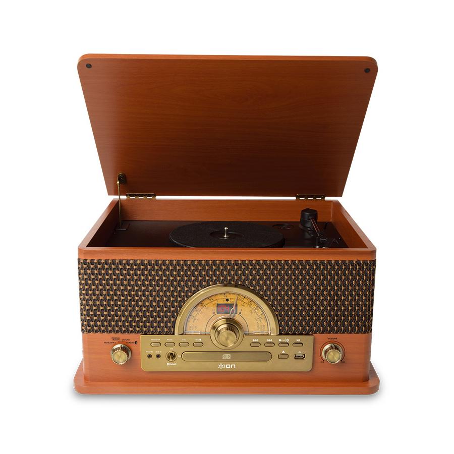 ION AUDIO Superior お見舞い LP 売買 レトロ調 レコードプレーヤー Bluetooth対応 USB アイオンオーディオ ラジオ CD 対応 カセットテープ