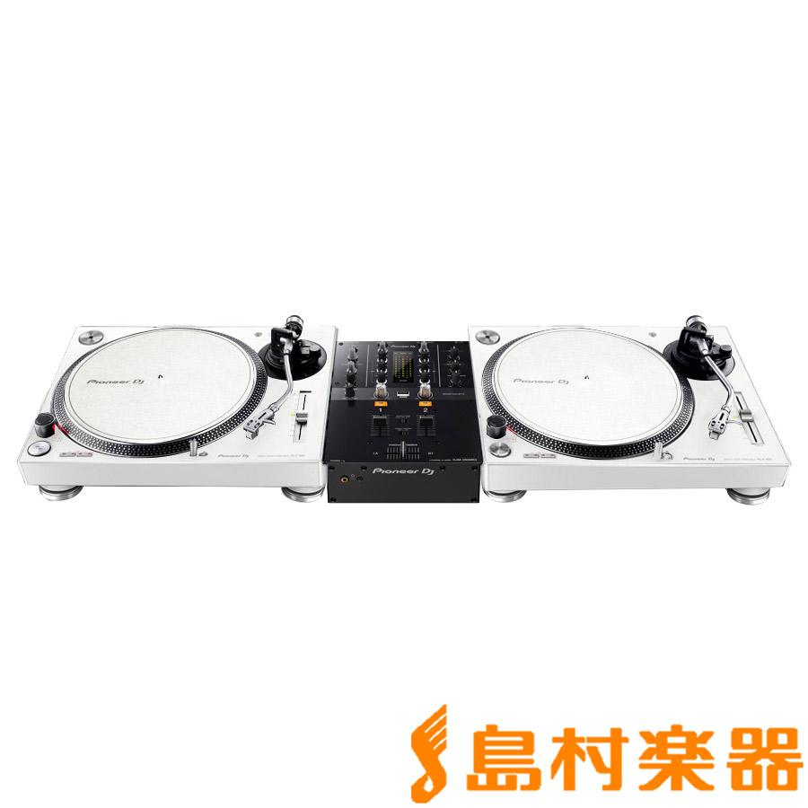 Pioneer DJ PLX-500-W + DJM-250MK2(ミキサー) アナログDJセット 【パイオニア】