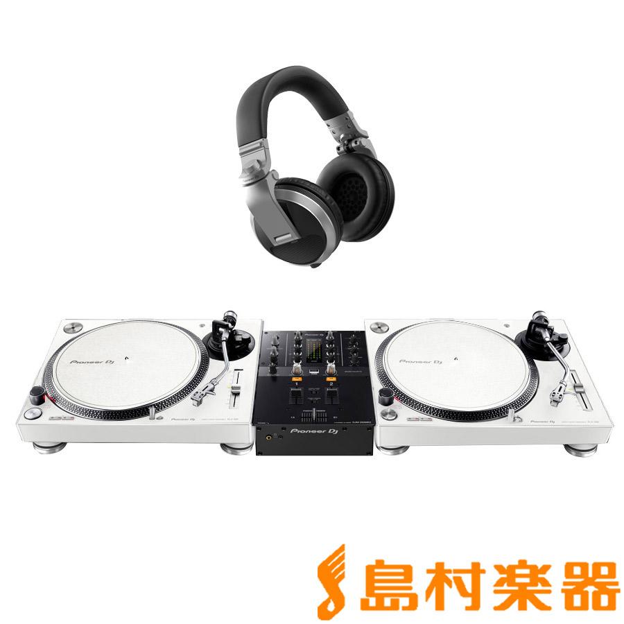 Pioneer DJ PLX-500-W + DJM-250MK2(ミキサー) + HDJ-X5-S(ヘッドホン) アナログ DJセット 【パイオニア】