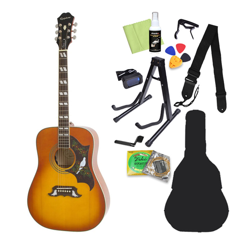 Epiphone Dove PRO Violinburst ダブ アコースティックギター初心者12点セット エレアコ 【エピフォン】【オンラインストア限定】