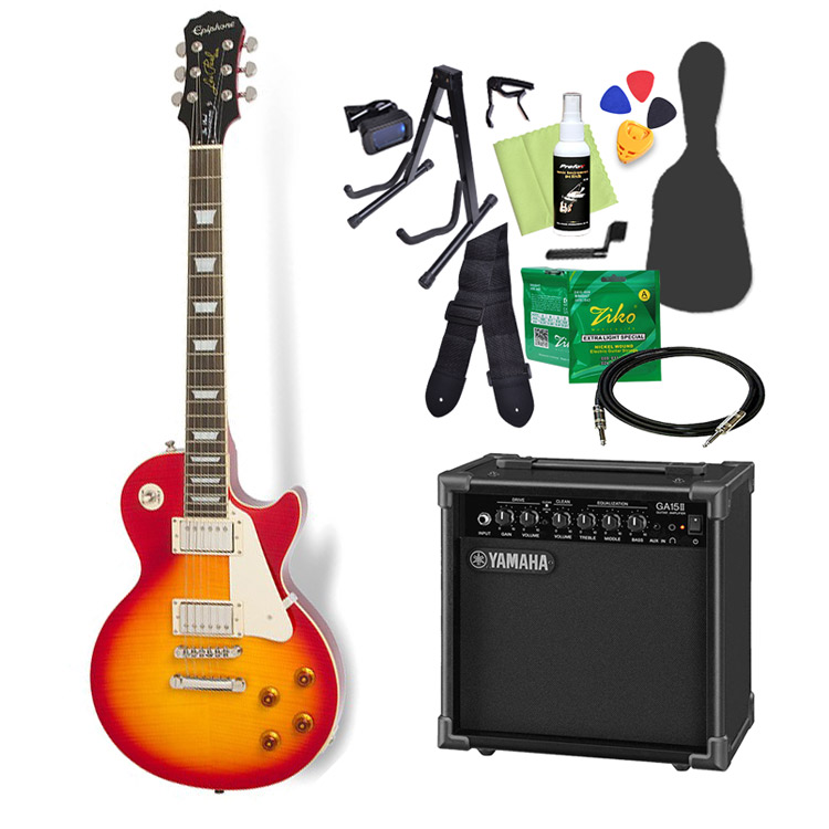Epiphone Les Paul Standard PlusTop PRO Heritage Cherry Sunburst エレキギター 初心者14点セット【ヤマハアンプ付き】 レスポール 【エピフォン】【オンラインストア限定】