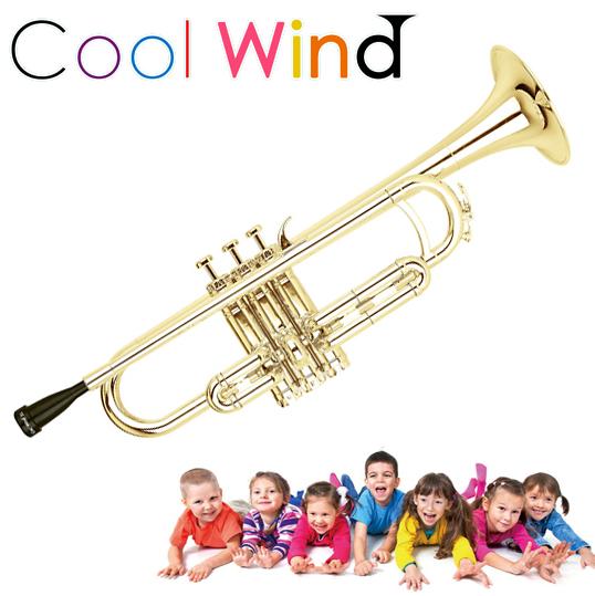 Cool Wind TR-200 ゴールド プラスチックトランペット 【クールウィンド プラ管 プレゼント キッズ 子供 初心者 楽器 おもちゃ】