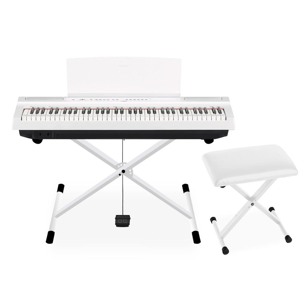 YAMAHA P-121 WH Xスタンド・Xイスセット 電子ピアノ 73鍵盤 【ヤマハ P121WH Pシリーズ】【別売り延長保証対応プラン:E】
