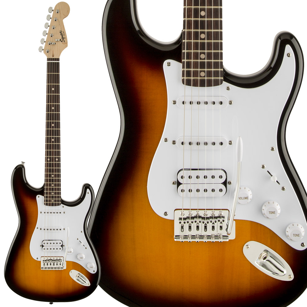 Squier by Fender Bullet Strat with Tremolo HSS, Laurel Fingerboard, Brown Sunburst エレキギター ストラトキャスター 【スクワイヤー / スクワイア】