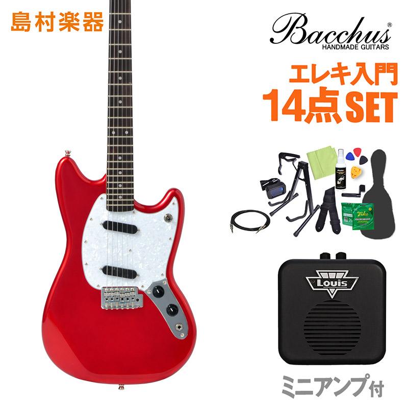 Bacchus BMS-1R CAR エレキギター 初心者14点セット 【ミニアンプ付き】 ユニバースシリーズ 【バッカス ムスタング】【オンラインストア限定】