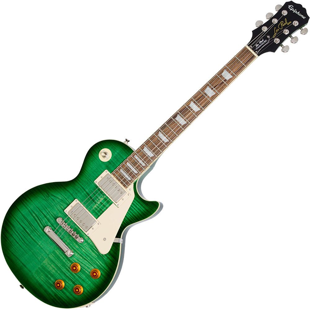 Epiphone Les Paul Standard Plustop PRO Trans Green Burst エレキギター 【エピフォン】