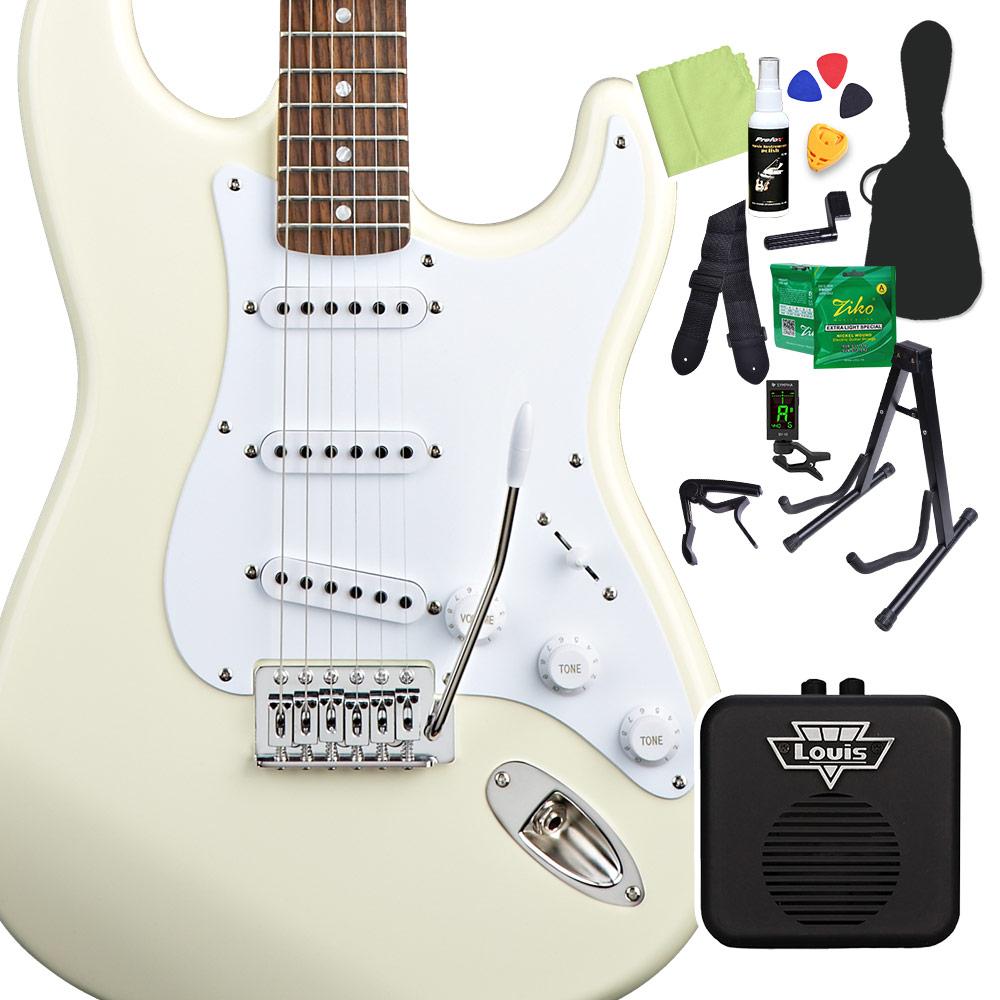 Squier by Fender Bullet Strat with Tremolo Laurel Fingerboard Arctic White エレキギター 初心者14点セット 【ミニアンプ付き】 ストラトキャスター 【スクワイヤー / スクワイア】【オンラインストア限定】