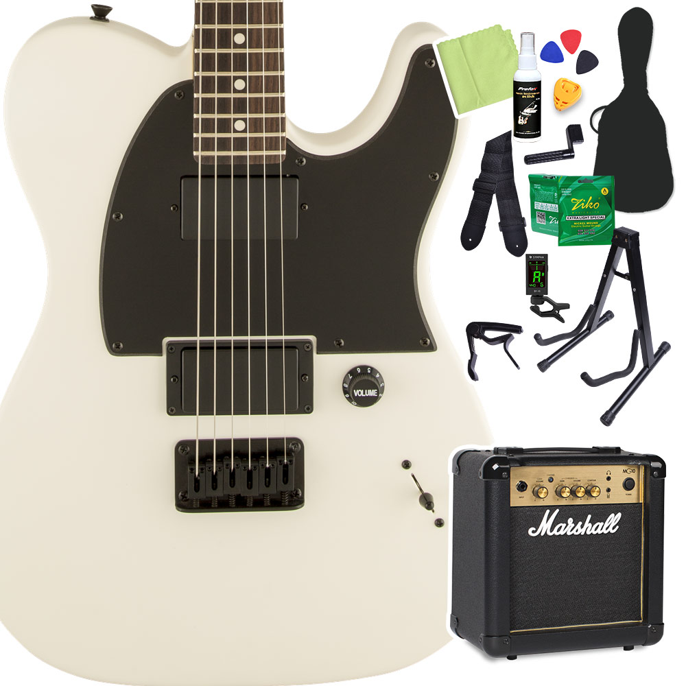 Squier by【スクワイヤー Fender Jim Flat Root Telecaster Laurel Fingerboard エレキギター Flat White エレキギター 初心者14点セット【マーシャルアンプ付き】 テレキャスター【スクワイヤー/ スクワイア】【オンラインストア限定】, カー吉:758605aa --- sunward.msk.ru