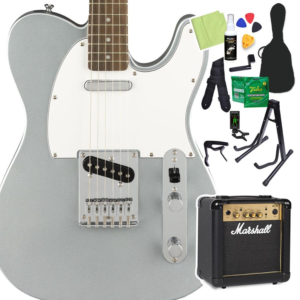 Squier by Fender Affinity Series Telecaster Laurel Fingerboard Slick Silver エレキギター 初心者14点セット 【マーシャルアンプ付き】 テレキャスター 【スクワイヤー / スクワイア】【オンラインストア限定】