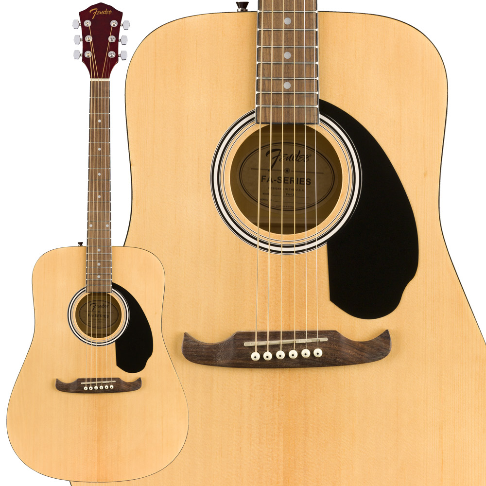 Fender Fender FA-125 Dreadnought w/bag Walnut Natural アコースティックギター Dreadnought Natural【フェンダー】, アートブラウン 革小物 ベルトの店:572fc38c --- sunward.msk.ru