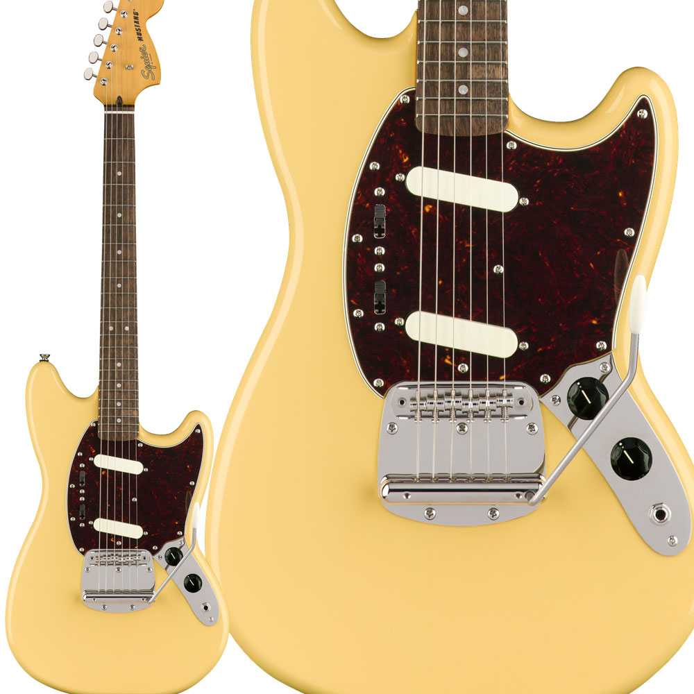 Squier by Fender Classic Vibe '60s Mustang Laurel Fingerboard Vintage White エレキギター ムスタング 【スクワイヤー / スクワイア】