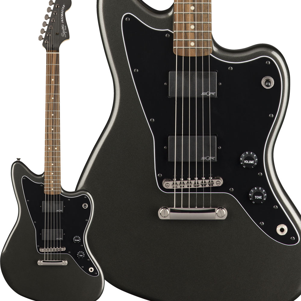 Squier by Fender Contemporary Active Jazzmaster HH ST Laurel Fingerboard Graphite Metallic エレキギター ジャズマスター 【スクワイヤー / スクワイア】