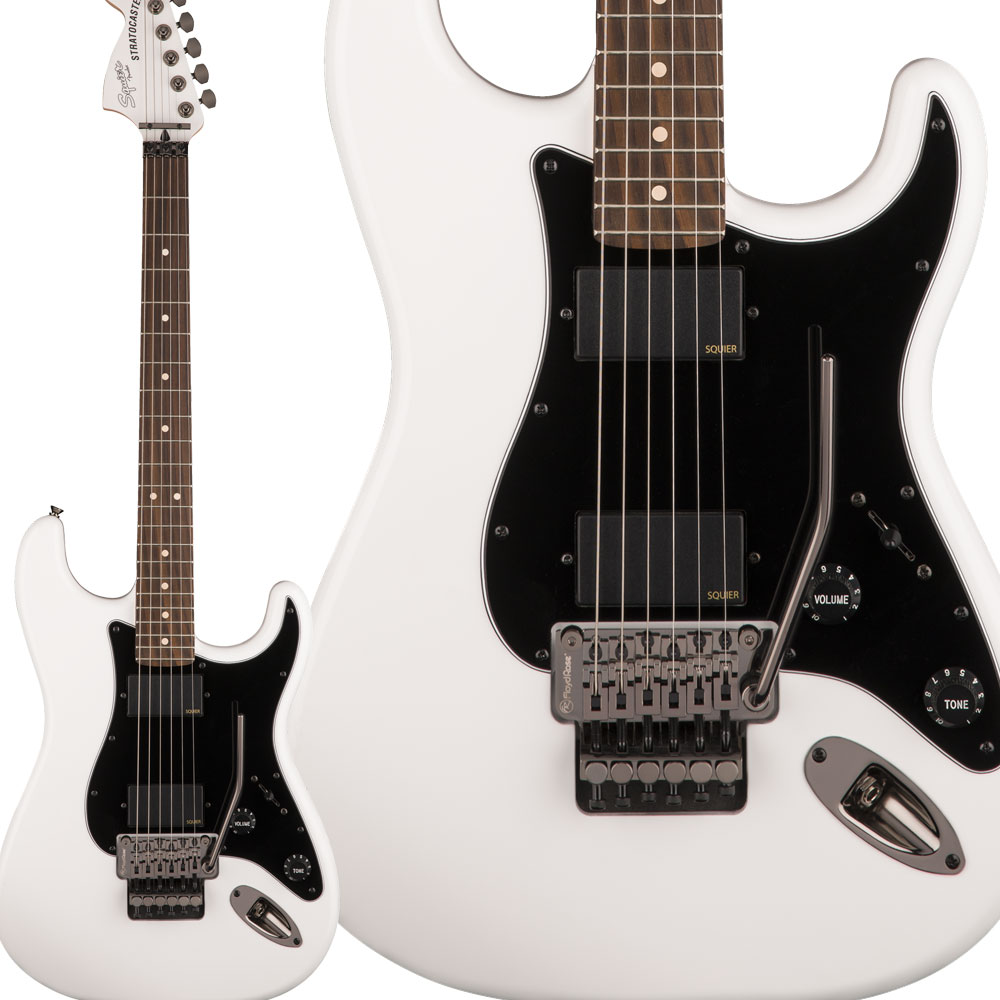 Squier by Fender Contemporary Active Stratocaster HH Laurel Fingerboard Olympic White エレキギター ストラトキャスター 【スクワイヤー / スクワイア】