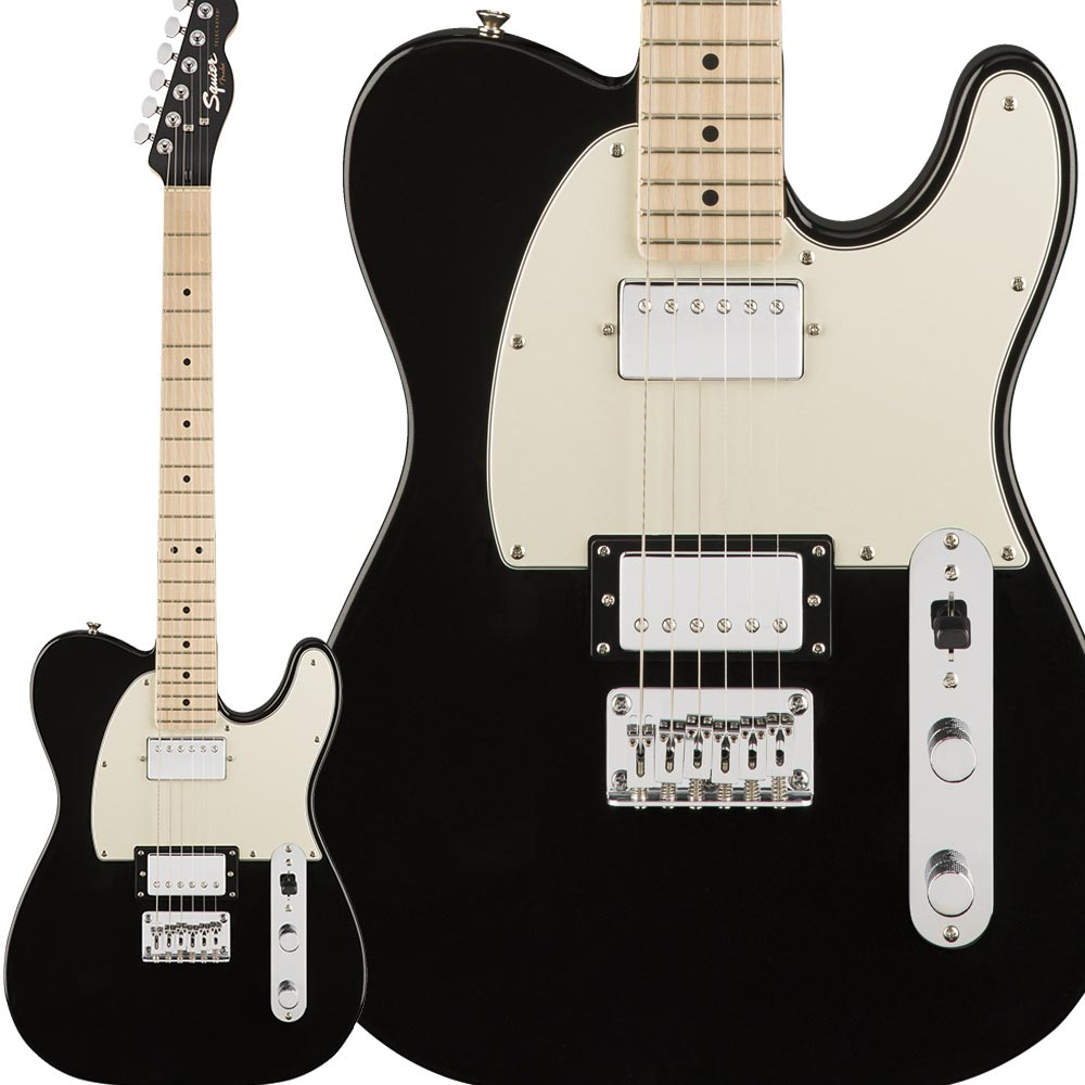 Squier by Fender Contemporary Telecaster HH, Maple Fingerboard, Black Metallic エレキギター テレキャスター 【スクワイヤー / スクワイア】